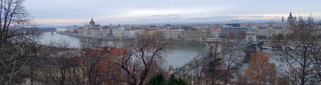 Panorama van het uitzicht vanaf Buda Castle