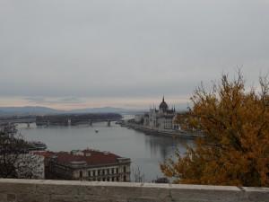 Uitzicht op Budapest