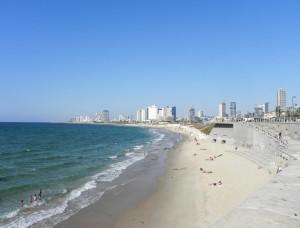 Prachtig uitzicht op de Skyline van Tel Aviv