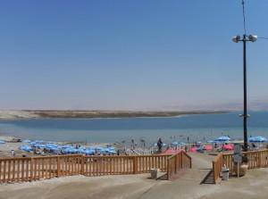 De Dode zee met het strandje