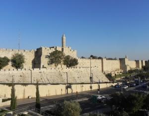 De ommuurde Oude stad van Jeruzalem