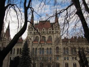 Parlement gezien vanaf Pest