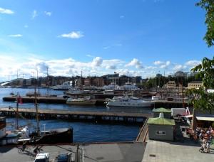 Zicht op de haven van Oslo