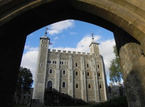 De binnenplaats van de Tower of London