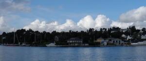 Prachtig zicht op het eiland Bygdoy