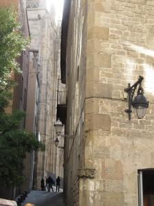 Achteraf straatje in Barcelona