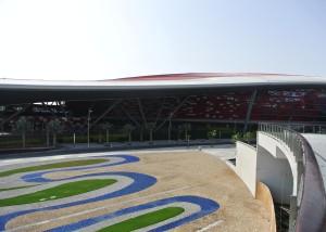 Ferrari world ligt op Yas Island