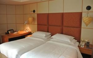 De hotelkamer van Sheraton Abu Dhabi