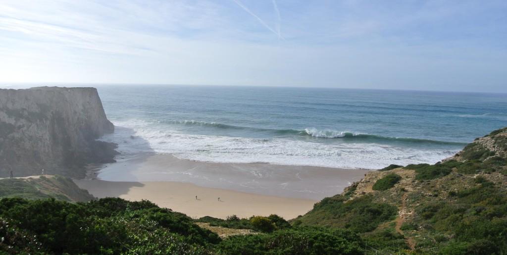 Prachtig strand op weg naar Cabo Sao Vicente