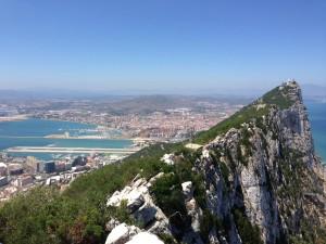 Zicht vanaf de Rock op Gibraltar