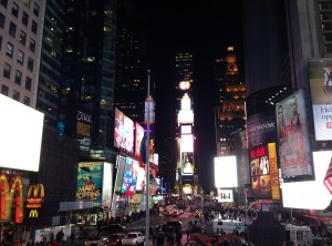 Lichtshow op Times Square
