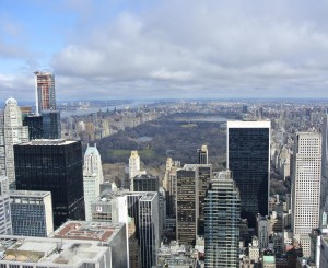 Zicht vanaf The Top of The Rock naar Central Park