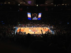 Basketbal in Madison Square Garden