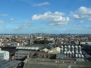 Uitzicht vanaf Guinness brouwerij