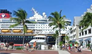 Grote Schepen in de haven van Key West
