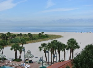Het prachtige privestrand van Sheraton Sand Key Resort