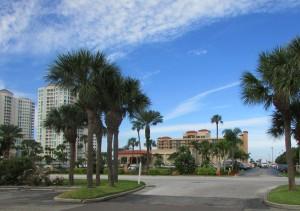 Het hotel vanaf de parkeerplaats