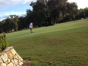 Golfen bij de Lakeside Golfclub
