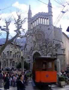 Het centrale plein van Soller