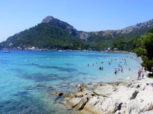 Het prachtige strand van Formentor