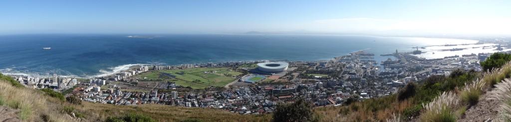 Zicht over Kaapstad vanaf Signal Hill