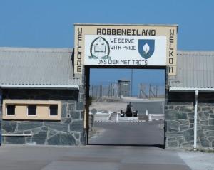De ingang bij Robben Island