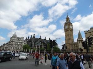De Big Ben, Londen Eye op een foto