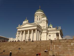 De prachtige Dom van Helsinki