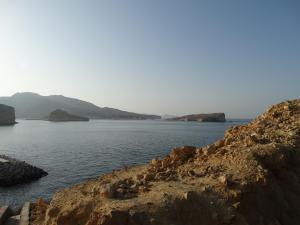 Prachtig zicht langs de Omaanse kust vlakbij het Resort