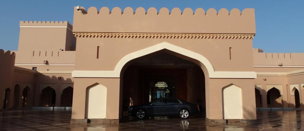 De Ingang van het Al Husn Hotel