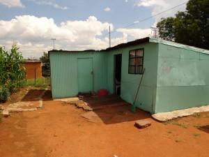 Zo ziet een huis in Soweto er uit.