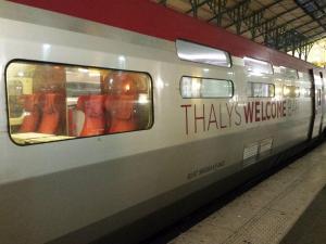 Een van de wagons van de Thalys