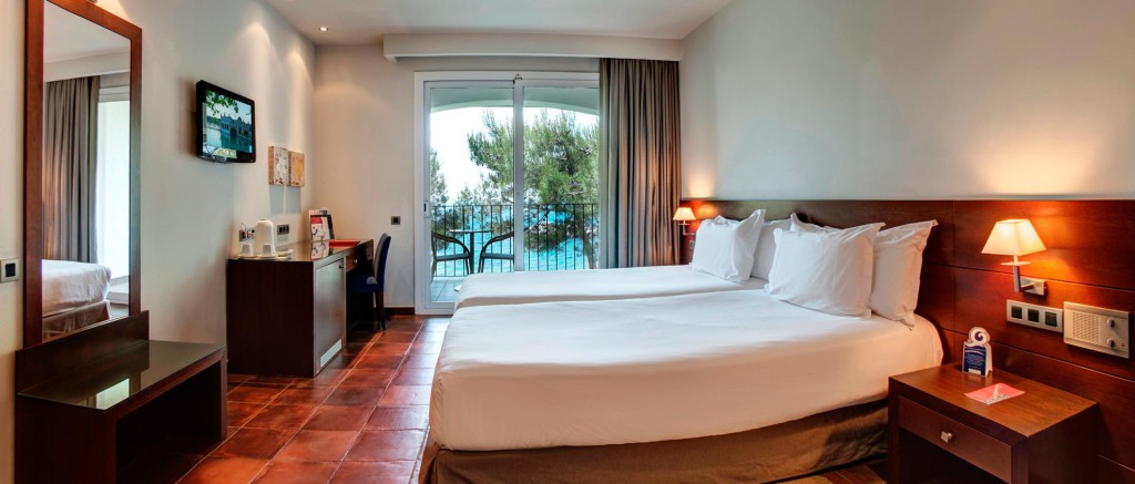 Een kamer van het prachtige hotel