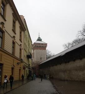 De stadsmuren in het stadspark.