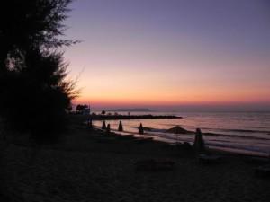 Einde vakantie...de zon gaat onder