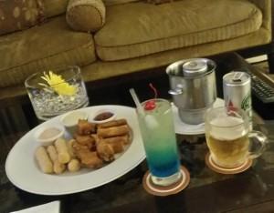 Genieten van Drankjes en heerlijke hapjes