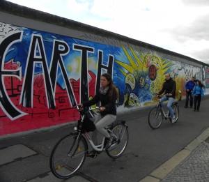 Fietsen langs de Berlijnse Muur