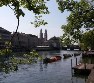 Zicht op Zürich