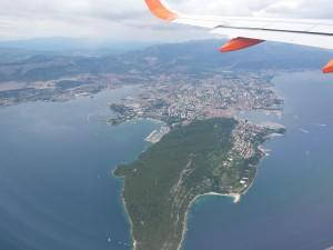 Split vanuit het vliegtuig.