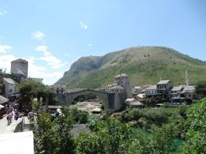 De wereldberoemde brug van Mostar