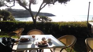 Ontbijt aan zee in Hotel Punta Negra
