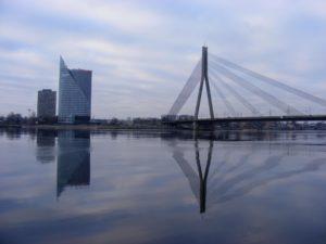 De Daugava en de mooie brug