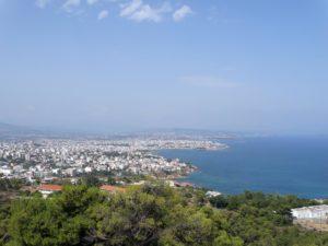 Uitzicht over Chania