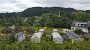 de Camping van boven